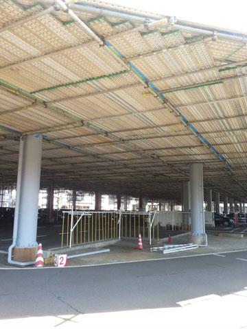 吊り足場(某自動車学校)